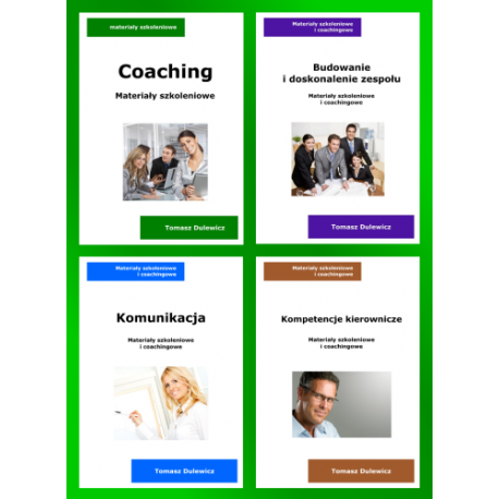 Komunikacja + Budowanie zespołu + Kierowanie + Coaching (ebooki)
